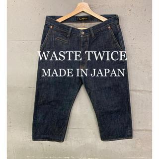 ウェストトゥワイス(Waste(twice))のWASTE TWICEセルビッチクロップドデニム!日本製!(デニム/ジーンズ)