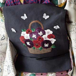 フリフ(ふりふ)の京袋帯 パンジー 蝶々(帯)