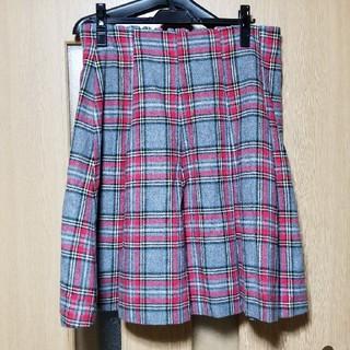 フランシュリッペ(franche lippee)のフランシュリッペ プリーツスカート 大きいサイズ fl5(ひざ丈スカート)