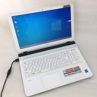 エヌイーシー(NEC)の《限定1台》ノートパソコン NEC ホワイト(ノートPC)