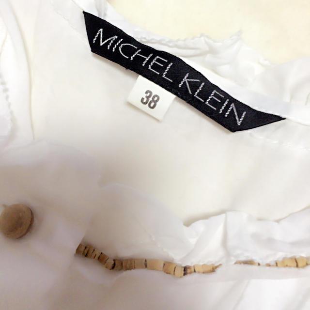 MICHEL KLEIN(ミッシェルクラン)のミッシェルクラン ホワイトワンピ♡ レディースのワンピース(ロングワンピース/マキシワンピース)の商品写真