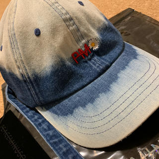 PEACEMINUSONE - 正規 Peaceminusone DENIM BLEACH CAP #BLUE