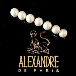 アレクサンドルドゥパリ(Alexandre de Paris)の新品☆アレクサンドル ドゥ パリ ヘアー バレッタ パール(バレッタ/ヘアクリップ)
