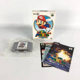 ニンテンドウ64(NINTENDO 64)の【極美品】任天堂64 スーパーマリオ64 ソフト(家庭用ゲームソフト)