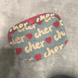 シェル(Cher)のcher ミニポーチ デニム(ポーチ)