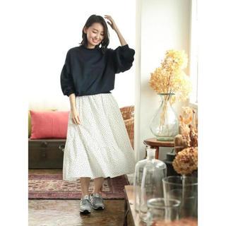 ショコラフィネローブ(chocol raffine robe)のGreen Parks   グリーンパークス ドットプリント スカート(ロングスカート)