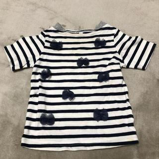 サンカンシオン(3can4on)の3can4on ボーダーチュールTシャツ 90(Tシャツ/カットソー)