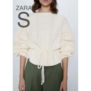 ザラ(ZARA)の【新品・未使用】ZARA ケーブルニット セーター S(ニット/セーター)