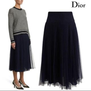 クリスチャンディオール(Christian Dior)のchristian dior 今期2020 チュールスカート 36 ブラック(ロングスカート)