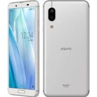 シャープ(SHARP)のAQUOS sense3 lite シルバーホワイト 64 GB SIMフリー(スマートフォン本体)