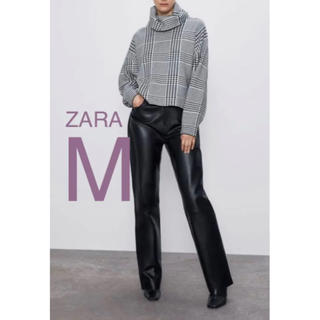 ザラ(ZARA)の【新品・未使用】ZARA チェック柄 オーバーサイズ セーター M(ニット/セーター)