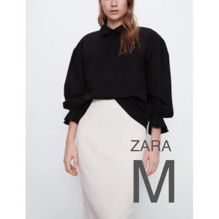 ザラ(ZARA)の【新品・未使用】ZARA ピーターパン 襟付き シャツ M(シャツ/ブラウス(長袖/七分))