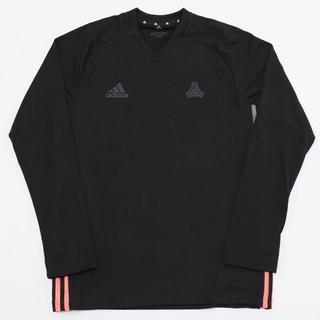 アディダス(adidas)の新品 XLサイズ TANGO テック Tシャツ 長袖 ブラック Vネック(Tシャツ/カットソー(七分/長袖))