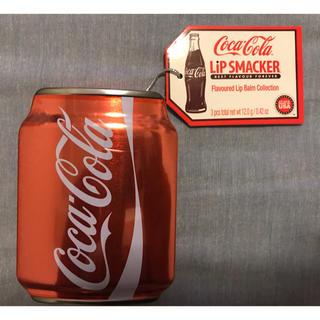 コカコーラ(コカ・コーラ)の【非売品未開封】リップスマッカーコーラ缶 コカコーラ・ファンタオレンジ・グレープ(ノベルティグッズ)