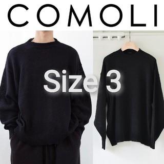 コモリ(COMOLI)の新品■20AW COMOLI カシミヤクルーネックニット 3 ネイビー カシミア(ニット/セーター)