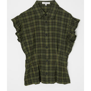 moussy - FRILL SLEEVE CHECK ブラウス❤︎moussy