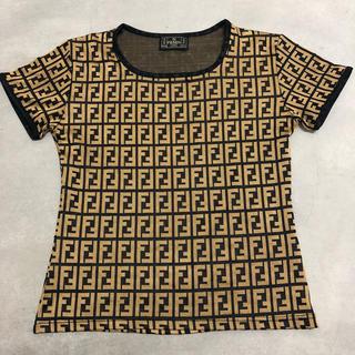 フェンディ(FENDI)のフェンディ 正規品 美品 総柄 Tシャツ ズッカ柄(Tシャツ(半袖/袖なし))