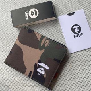 アベイシングエイプ(A BATHING APE)の【新品未使用】Aape 財布 ウォレット カモフラージュ(折り財布)