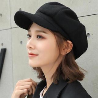 グレイル(GRL)の【最終値下げ】ベレー帽 キャスケット ブラック 黒(ハット)