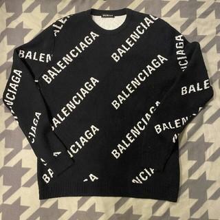 バレンシアガ(Balenciaga)の【着払い】バレンシアガ プールオーバー ロゴ入り 二っと セーター(ニット/セーター)