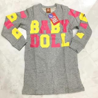 ベビードール(BABYDOLL)の新品✩︎BABY DOLL✩︎ミニワンピ 120cm (Tシャツ/カットソー)