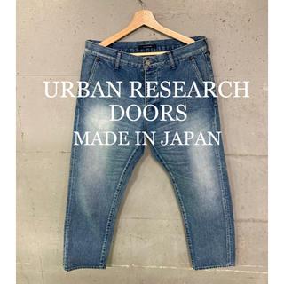 ドアーズ(DOORS / URBAN RESEARCH)の美品!URBAN RESEARCH  DOORSテーパードデニム!日本製!40(デニム/ジーンズ)
