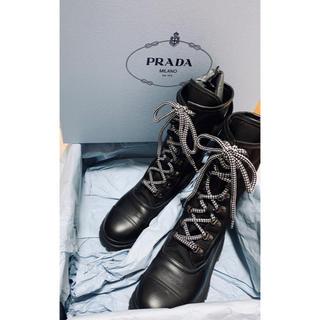 プラダ(PRADA)の【SALE】 PRADAレザーブーツ(ブーツ)