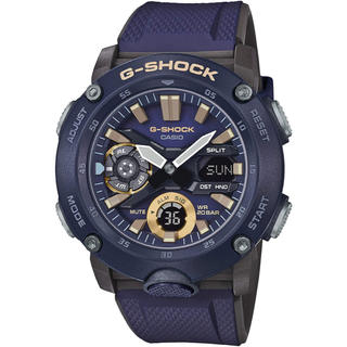 ジーショック(G-SHOCK)のカシオ G-SHOCK ミリタリー カーボンコアガード 腕時計 ブルー×ブラック(腕時計(アナログ))