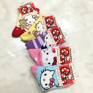 HELLO KITTY 靴下ソックス 5枚セット キティーちゃん(靴下/タイツ)