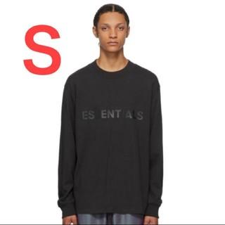 フィアオブゴッド(FEAR OF GOD)のエッセンシャルズ ESSENTIALS ロングTシャツ 黒S(Tシャツ/カットソー(七分/長袖))