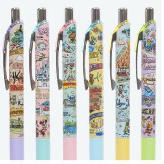 Disney - ディズニー   ボールペン   アトラクション柄 6本セット