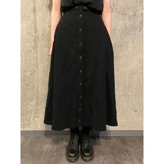 ヨウジヤマモト(Yohji Yamamoto)のヨウジヤマモト ウール 10連続ボタンデザイン ロングスカート #[748](ロングスカート)