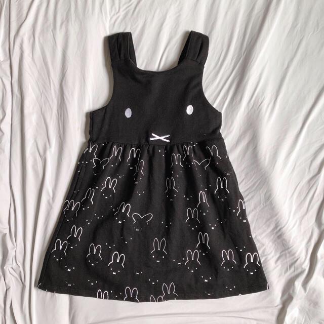 Design Tshirts Store graniph(グラニフ)の【新品】グラニフミッフィー総柄ワンピースミッフィーヒストリーパターン110cm キッズ/ベビー/マタニティのキッズ服女の子用(90cm~)(ワンピース)の商品写真
