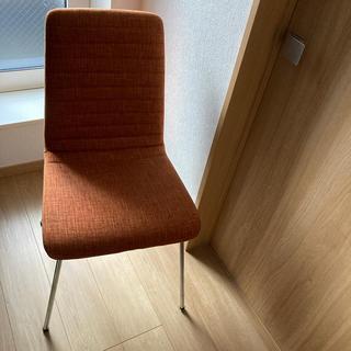 ニトリ(ニトリ)のニトリダイニングチェアオレンジ家具リビング(ダイニングチェア)