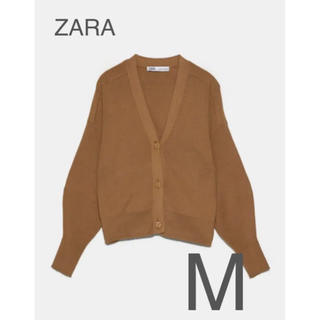 ザラ(ZARA)の【新品・未使用】ZARA リブ カーディガン M(カーディガン)