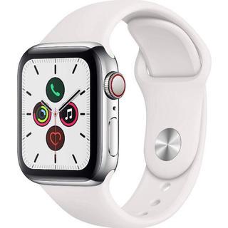 アップルウォッチ(Apple Watch)の新品未開封 Apple Watch Series5 シルバーステンレス 40mm(腕時計(デジタル))