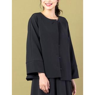 ローズティアラ(Rose Tiara)の新品✨定価40700円 Rose Tiara ジャケット tweed素材♡大特価(ノーカラージャケット)