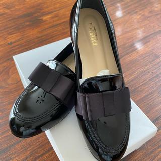 エスペランサ(ESPERANZA)の新品未使用⭐︎ESPERANZAローファー 黒 24cm(ローファー/革靴)