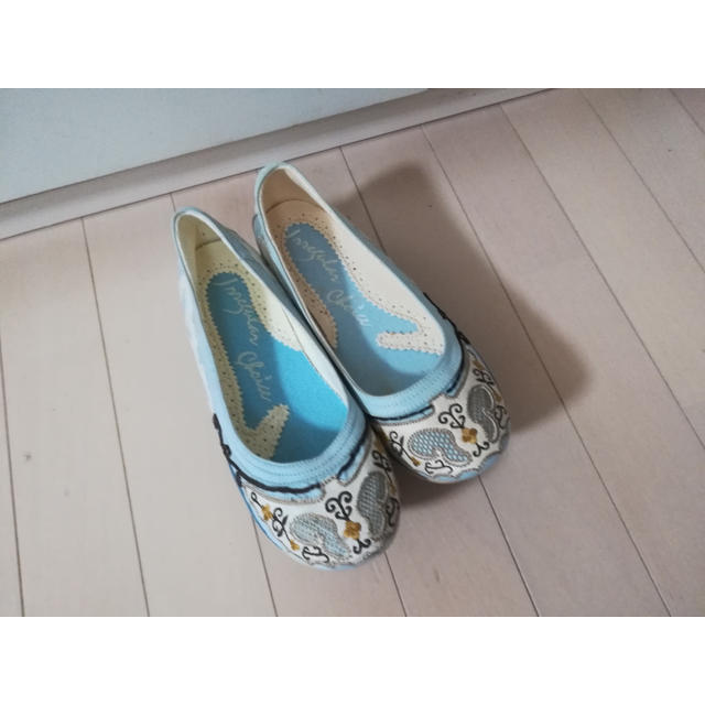 Vivienne Westwood(ヴィヴィアンウエストウッド)のイレギュラーチョイス 船形 ぽっくり 刺繍 民族 チョゴリ 韓国   レディースの靴/シューズ(ハイヒール/パンプス)の商品写真