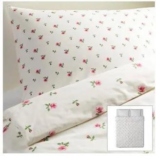 イケア(IKEA)のIKEA イケア EMELINA KNOPP シングル 掛け布団カバー 枕カバー(シーツ/カバー)
