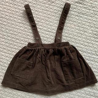 キャラメルベビー&チャイルド(Caramel baby&child )のmonbebe コーデュロイ吊りスカート(スカート)