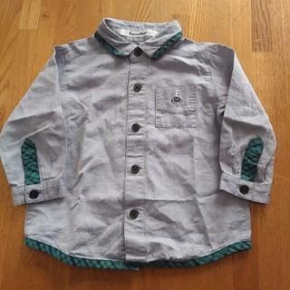 familiar - familiar 長袖 ダンガリーシャツ シャツ 80cm