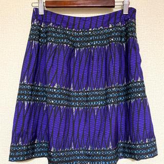 グリーンレーベルリラクシング(green label relaxing)のgreen label relaxing 紫色 スカート サイズ 38 美品(ひざ丈スカート)