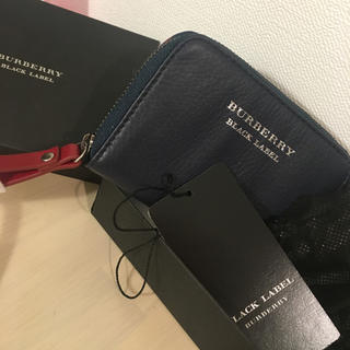 BURBERRY BLACK LABEL - 新品★バーバリーブラックレーベル★キーホルダー付小銭入れ