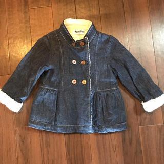 ファミリア(familiar)のファミリア  ペプラムコート ジャンパー デニム 90cm 女の子(ジャケット/上着)