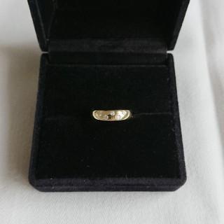 K18 ダイヤモンド ドット リング 0.13 約4号 約2.6g(リング(指輪))