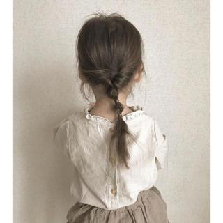 キャラメルベビー&チャイルド(Caramel baby&child )のchaleur frill blouse 新品未使用(シャツ/カットソー)