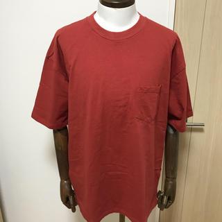 """1LDK SELECT - order loose pocket tee """"red brown"""""""