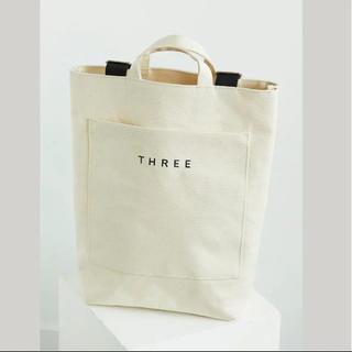 THREE - three オリジナル スワッグ バッグ