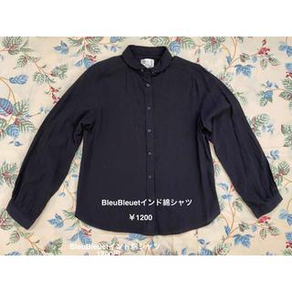 ブルーブルーエ(Bleu Bleuet)のBleuBleuet インド綿シャツ(シャツ/ブラウス(長袖/七分))